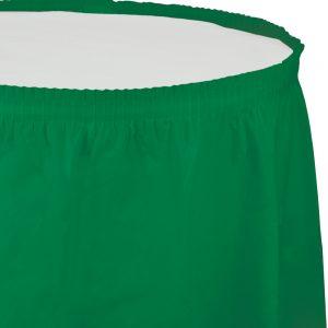 """Emerald Green Plastic Tableskirts, 14' X 29"""" 6 Ct"""
