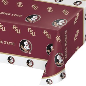 Florida State University Plastic Tablecover 12 Ct