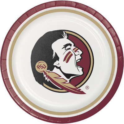 Florida State University Lunch Plate 96 Ct