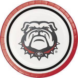 Georgia Bulldogs Lunch Plate 96 Ct