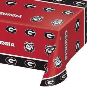 Georgia Bulldogs Plastic Tablecover 12 Ct