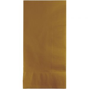 Glittering Gold Dinner Napkins 2Ply 1/8Fld 600 Ct