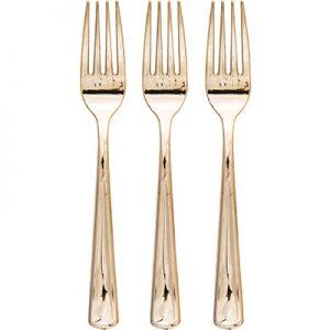 Metallic Gold Forks 288 Ct