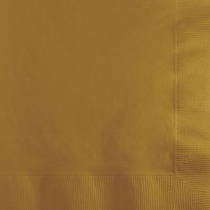 Glittering Gold Beverage Napkin 3Ply 500 Ct
