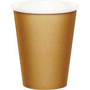 Glittering Gold Hot/Cold Cups 9Oz. 240 Ct