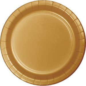 "Glittering Gold Paper Dinner Plates 10"" 240 Ct"