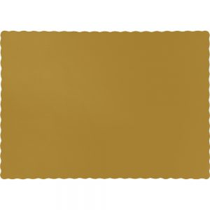 Glittering Gold Paper Placemats 600 Ct