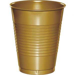 Glittering Gold Plastic Cups 16 Oz. 240 Ct