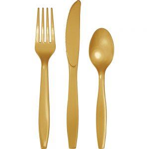 Glittering Gold Premium Cutlery Asst 288 Ct
