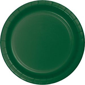 "Hunter Green Paper Dessert Plates 7"" 240 Ct"