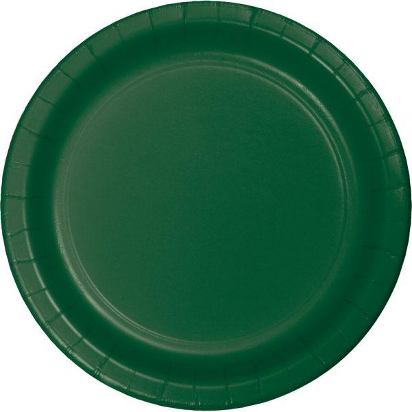 "Hunter Green Paper Dinner Plates 10"" 240 Ct"