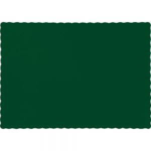 Hunter Green Paper Placemats 600 Ct
