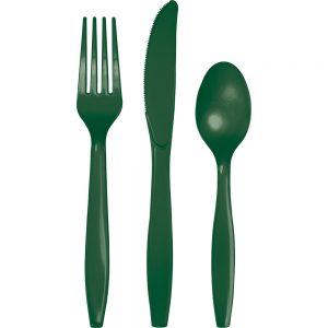 Hunter Green Premium Cutlery Asst 288 Ct