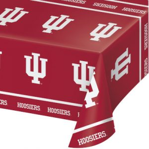 Indiana University Plastic Tablecover 12 Ct