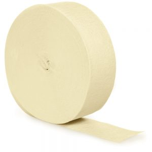 Ivory Crepe Streamers 81' 12 Ct