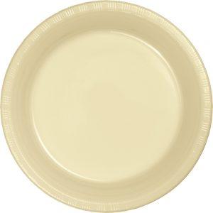 "Ivory Plastic Dessert Plates 7"" 240 Ct"