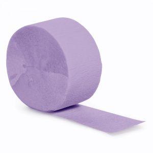 Luscious Lavender Crepe Streamers 81' 12 Ct