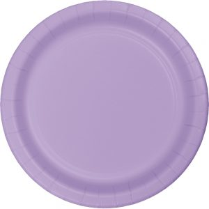 "Luscious Lavender Paper Lunch Plates 9"" 240 Ct"
