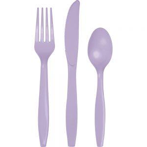 Luscious Lavender Premium Cutlery Asst 288 Ct