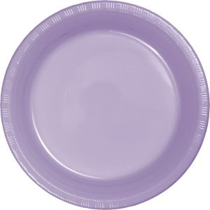 "Luscious Lavender Plastic Lunch Plates 9"" 240 Ct"