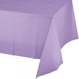 "Luscious Lavender Plastic Rectangular Tablecovers 54"" X 108"" 12 Ct"