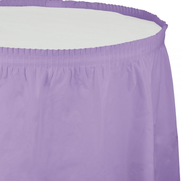 "Luscious Lavender Plastic Tableskirts, 14' X 29"" 6 Ct"