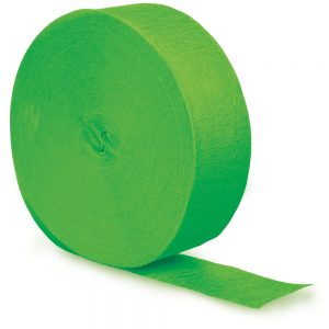 Fresh Lime Crepe Streamers 81' 12 Ct
