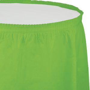 "Fresh Lime Plastic Tableskirts, 14' X 29"" 6 Ct"