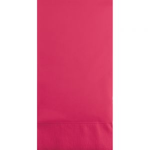 Hot Magenta Guest Towels 3Ply 192 Ct