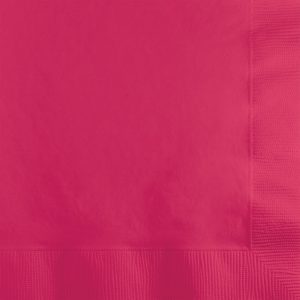 Hot Magenta Beverage Napkin 2Ply 1200 Ct