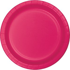 "Hot Magenta Paper Lunch Plates 9"" 240 Ct"