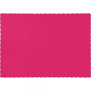 Hot Magenta Paper Placemats 600 Ct