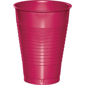 Hot Magenta Plastic Cups 12 Oz. 240 Ct