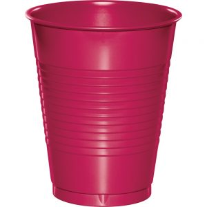 Hot Magenta Plastic Cups 16 Oz. 240 Ct