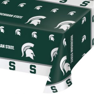 Michigan State University Plastic Tablecover 12 Ct