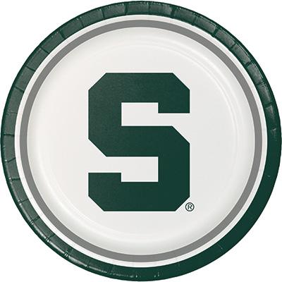 Michigan State University Lunch Plate 96 Ct