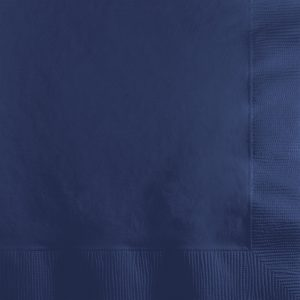Navy Dinner Napkins 3Ply 1/4Fld 250 Ct