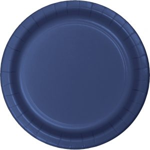 "Navy Paper Lunch Plates 9"" 240 Ct"