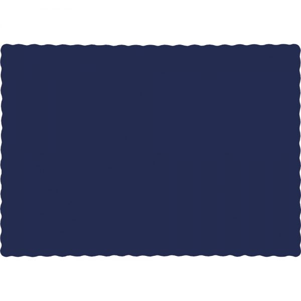 Navy Paper Placemats 600 Ct