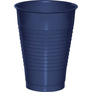 Navy Plastic Cups 12 Oz. 240 Ct