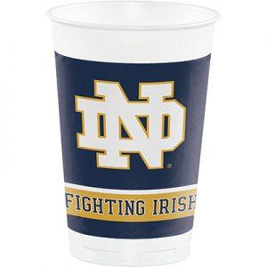 University Of Notre Dame 20 oz Plastic Cups 96 Ct