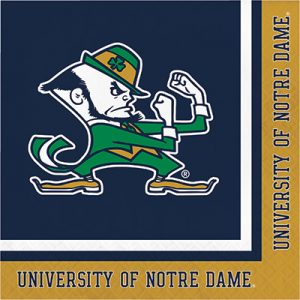 University Of Notre Dame Luncheon Napkin 240 Ct
