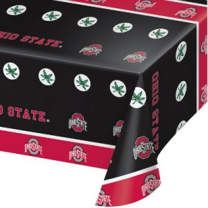 Ohio State University Plastic Tablecover 12 Ct