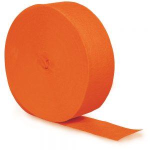 Sunkissed Orange Crepe Streamers 500' 12 Ct