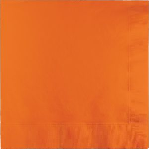 Sunkissed Orange Lunch Napkins 2Ply 600 Ct