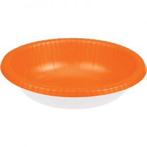 Sunkissed Orange Paper Bowls 20 Oz. 200 Ct