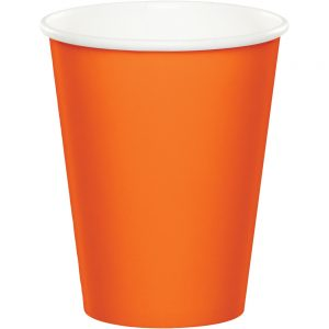 Sunkissed Orange Hot/Cold Cups 9Oz. 240 Ct