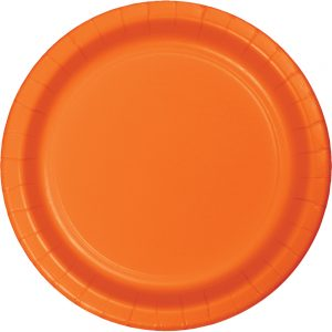 "Sunkissed Orange Paper Lunch Plates 9"" 240 Ct"