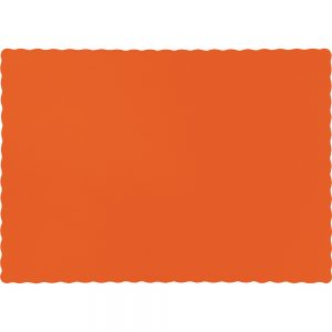 Sunkissed Orange Paper Placemats 600 Ct