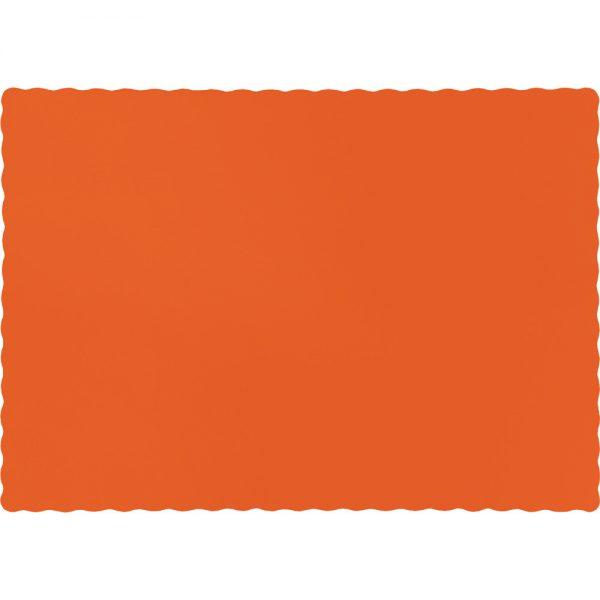 Sunkissed Orange Paper Placemats 600 Ct